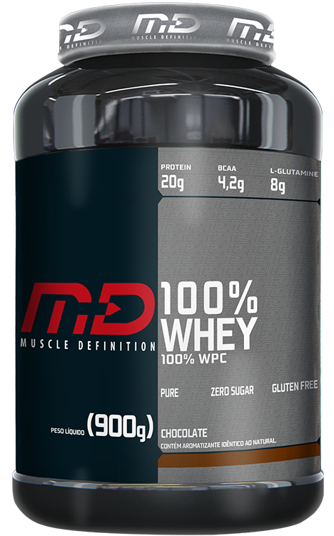 100% Whey Md (900g) Muscle Definition no Mundo dos Suplementos